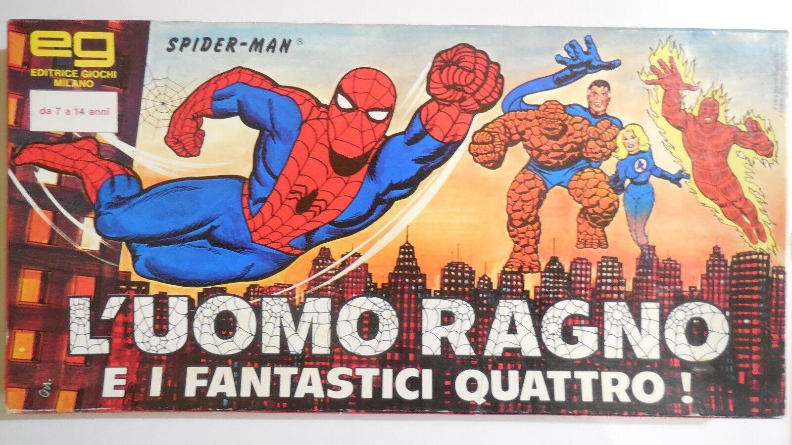 VINTAGE GIOCO DA TAVOLO L'UOMO RAGNO FANTASTICI QUATTRO MARVEL 1978 EG SPIDERMAN