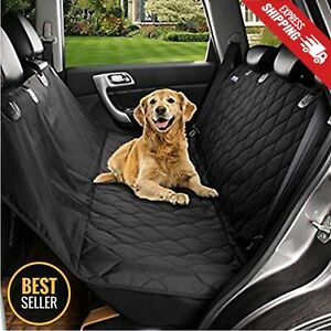 Seat-Cover-Rear-Back-Car-Pet-Dog-Travel-Waterproof-Bench-Protector-Luxury-Black