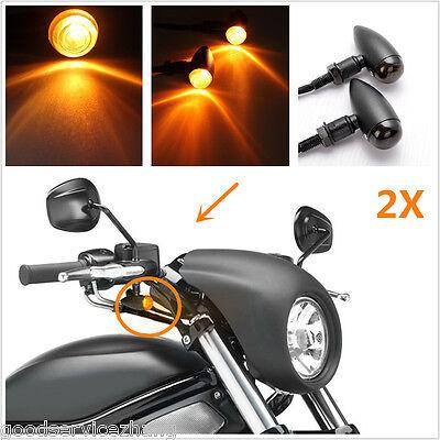 Front Motorcycle LED Turn Signals Bullet Blinker Indicator Light for Harley