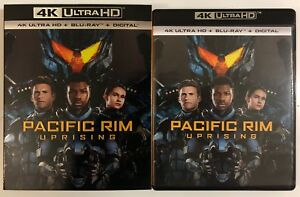 PACIFIC-RIM-UPRISING-4K-ULTRA-HD-BLU-RAY-2-DISC-SET-SLIPCOVER-SLEEVE-FREE-SHIP