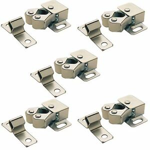 Image is loading 5-x-ROLLER-CATCH-CUPBOARD-CABINET-DOOR-LATCH-  sc 1 st  eBay & 5 x ROLLER CATCH CUPBOARD CABINET DOOR LATCH TWIN DOUBLE CATCHES ...