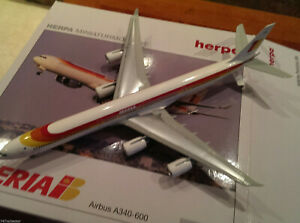 Herpa-Iberia-A340-642-1-200-553865-1990s-Colors-Ciudad-de-Mexico-EC-LFS