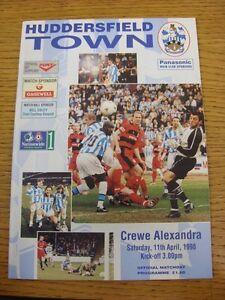 11-04-1998-Huddersfield-Town-v-Crewe-Alexandra-Item-In-Good-Condition