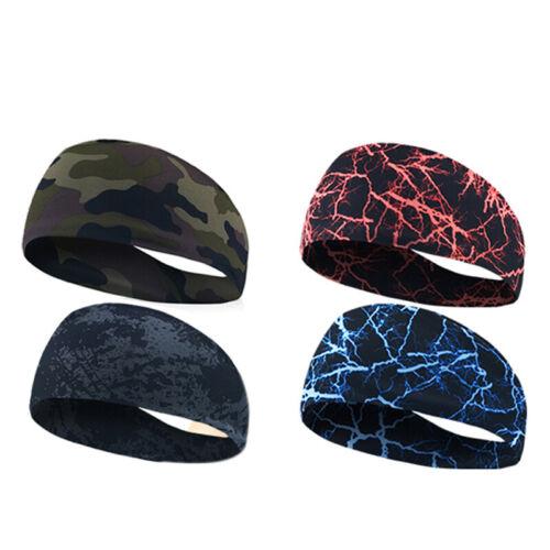 Gym Sports Absorbent Sport Sweat Headband Elastic Sweatband For Men And Wom B1R9
