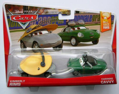 Disney Pixar Cars KIMBERLY RIMS /& CARINNE CAVVY RARE plus de 100 voitures en vente!!!