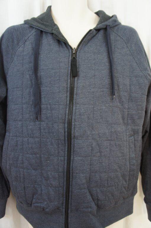 Field & Stream  Herren Sweater Sz XL Indigo Heather Blau Reversible Hoodie Sweater