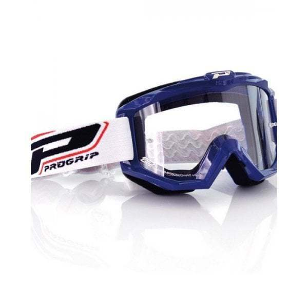 Pro Grip Adults 3201 Race Line Motocross MX Enduro Bike Goggles - bluee