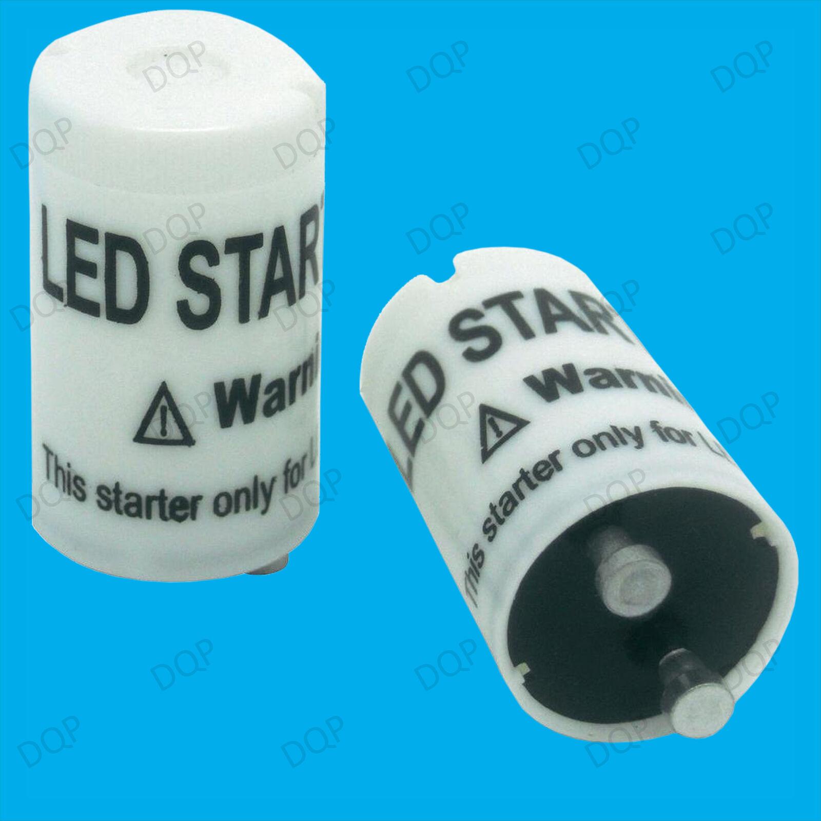 100x LED STARTER converdeire facilmente in LED Sostituzione tubi fluorescenti RACCORDO Starter