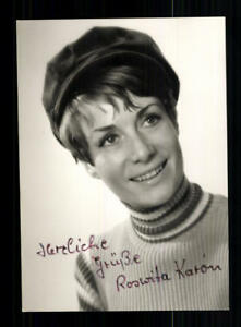 Autogramme & Autographen Original, Unzertifiziert Roswita Karon Autogrammkarte Original Signiert # Bc 136551