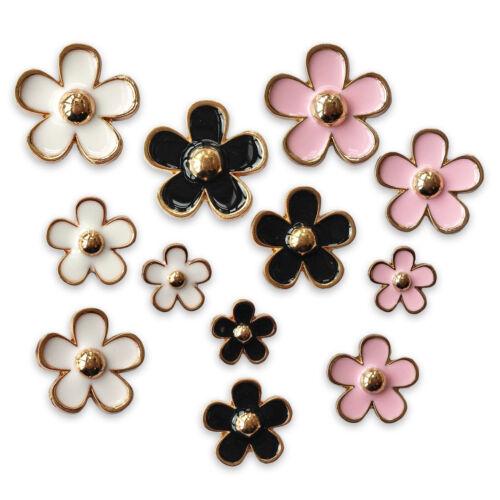 Lot De 4 Fleurs Embellissements Decoden Scrapbooking Cardmaking Craft Toppers