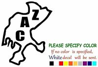 Vinyl Decal Sticker - Zacatecas Zac Mexico State Map Car Truck Window Bumper 10