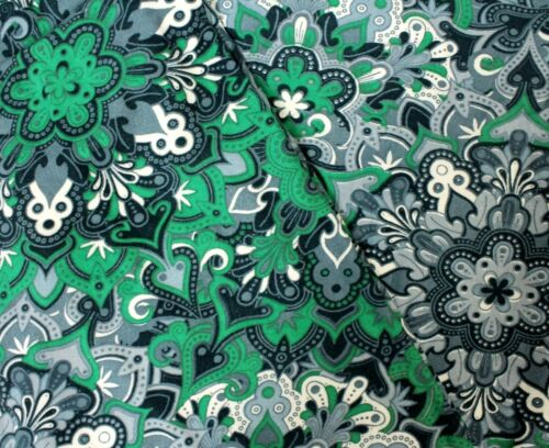 Mommy And Me Leggings Paisley Floral Print Green Blue One Plus Size Girls