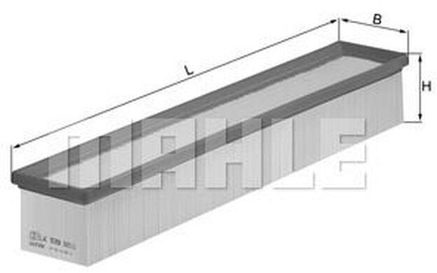 KNECHT Filtro de aire MERCEDES-BENZ CLASE C LX 939