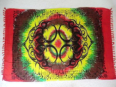 Sarong Pareo Strandtuch Tuch Bild Celtic Tribal Rasta Tattoo Wandbild Wandbehang