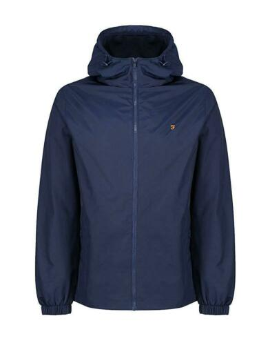 FARAH THE SMITH JACKET YALE BLUE COAT SMART CASUALS FULL ZIP HOODED FESTIVALS