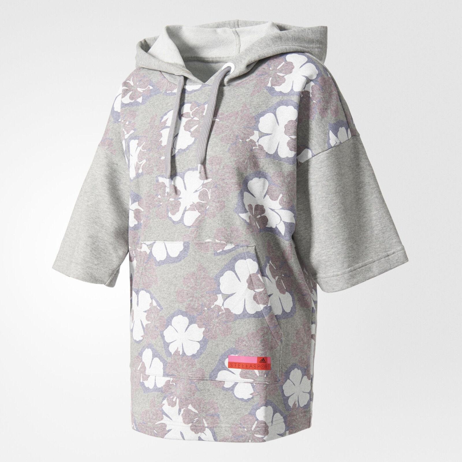 NwtSTELLA McCARTNEY adidas STELLASPORT HOODIE Printed Floral Sweat ShirtSize S