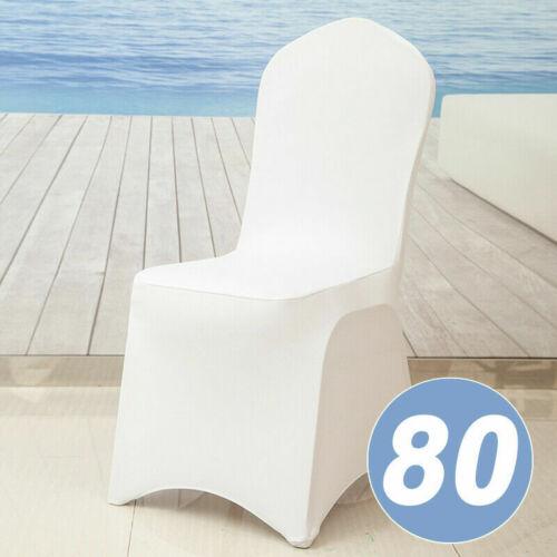 10-100er Stuhlhussen Stretch Stuhlbezug Universell Hussen Hochzeit Stuhlüberzug#