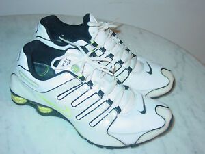 2009-Mens-Nike-Shox-NZ-SL-White-Black-Neon-Green-Running-Shoes-Size-11-5-160-00