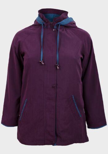 Penmans Ladies Womens Detachable Hooded Brushed Fabric Plus sizes Plum Jacket