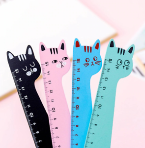 Cute Cat Ruler Stationery Cartoon set of Drafting Rules School Student Supplies