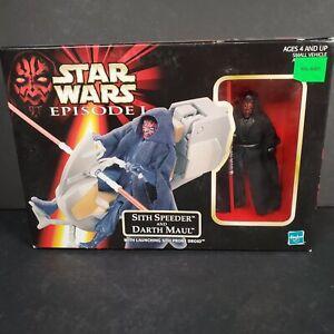 Hasbro-Star-Wars-Episode-I-Sith-Speeder-and-Darth-Maul-Action-Figure-See-Descrip