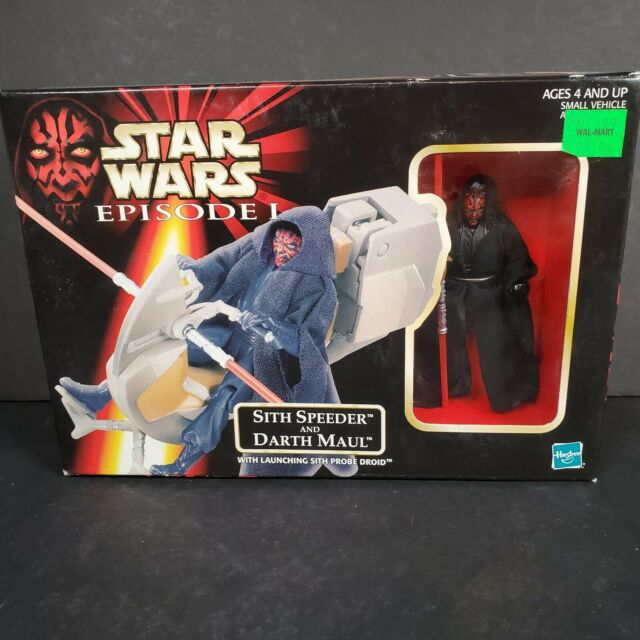 Hasbro Star Wars Episode I Sith Speeder and Darth Maul Action Figure See Descrip