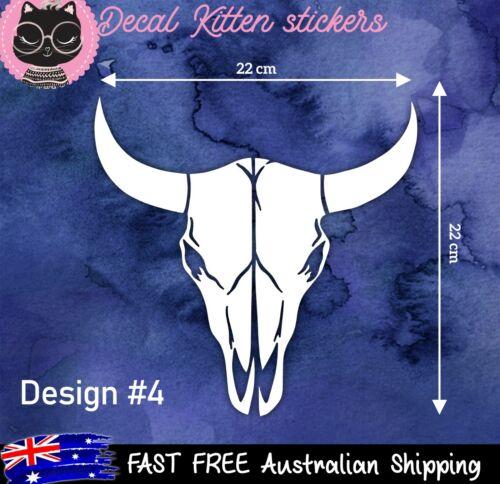 vinyl car sticker large longhorn COW SKULL DECAL