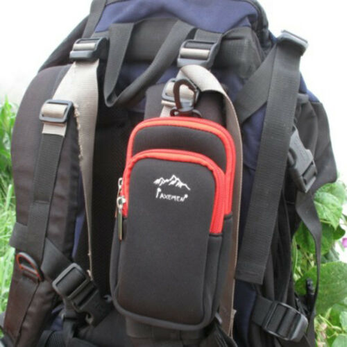 Universal Tactical Molle Sport Bag Pouch Phone Case Hook Carabiner Outdoors