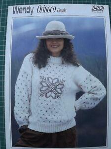 Womens Fair Isle Sweater Knitting Pattern Wendy Orinoco Chunky