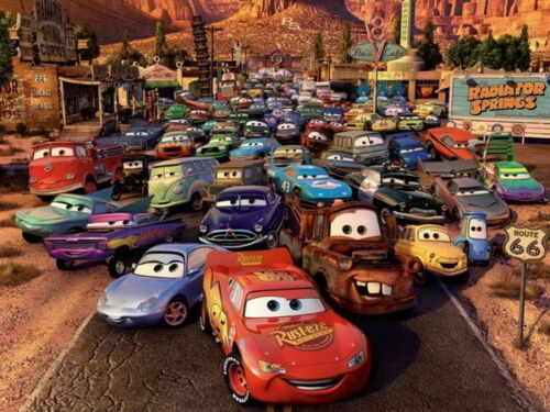 "Pixar Lightning McQueen Cartoon Movie 18/""x14/"" Poster 041 Cars"