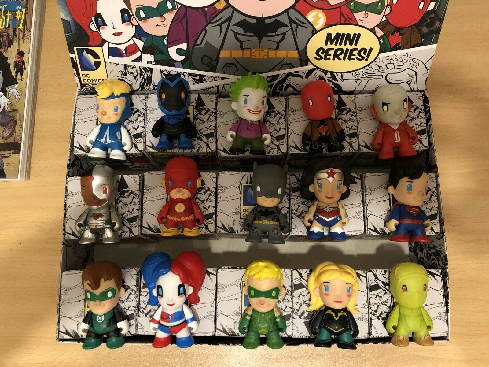 Kidrobot DC Comics - 3  Mini Series - Blind Box Collectibles - Full Set of 15