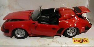 MAISTO-FASSI-1-24-AUTO-DIE-CAST-PORSCHE-911-SPEEDSTER-1989-ROSSA-ART-98902