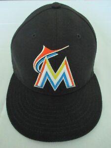 best cheap cad46 f3fa9 Image is loading M-Miami-Marlins-MLB-New-Era-Black-7-