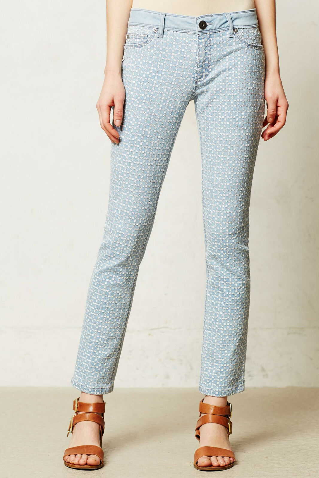 DL1961 Angel Eyelet Ankle Jeans Pants Größe 27 Bliss Farbe NW ANTHROPOLOGIE Tag