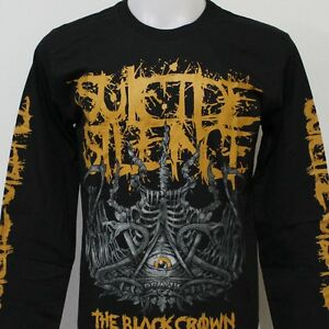 suicide silence the black crown long sleeve t shirt new size s m l xl 2xl 3xl ebay. Black Bedroom Furniture Sets. Home Design Ideas