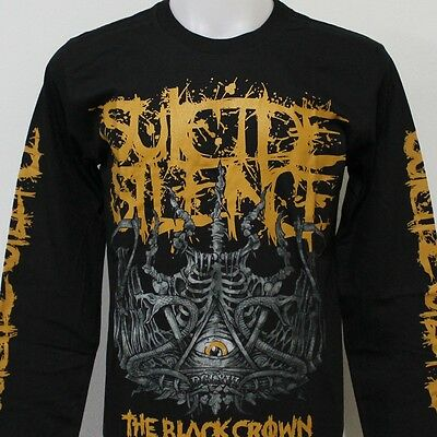 SUICIDE SILENCE The Black Crown Long Sleeve T-Shirt New Size S M L XL 2XL 3XL