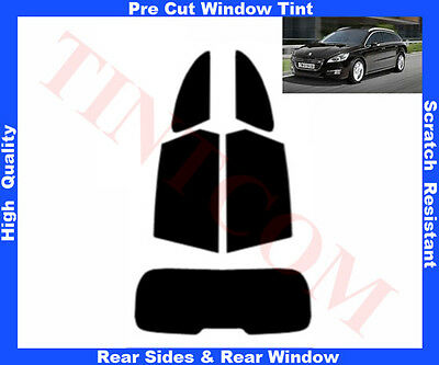 Pre Cut Window Tint Peugeot 508 Estate 2011-.. RearWindow & RearSides Any Shade
