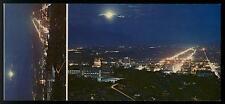 NIGHT VIEW OF SALT LAKE CITY UTAH  POSTCARD COND:VERY GOOD + MINI-CARD ATTACHED