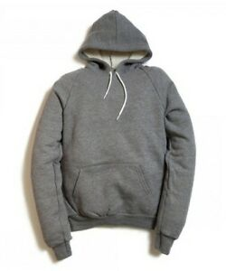dirt cheap reasonably priced low price Details about American Apparel Classic Sweat Heavy Gray French Terry Hoodie  HVT495 Pullover