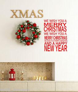 Merry-Christmas-Window-Wall-Stickers-decorations-Xmas-Carols-Shop