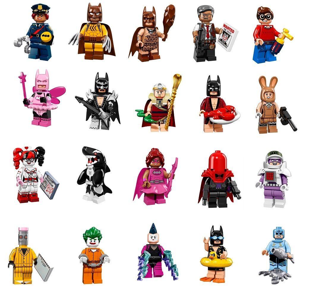 LEGO 71017 Batman Movie - Complete 20 Figure Set + Bonus 2 Mini Figures