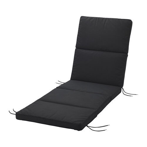 BLACK Sunlounge Thick Comfort Support Cushion Outdoor Seat Sun Lounge Chair Pad