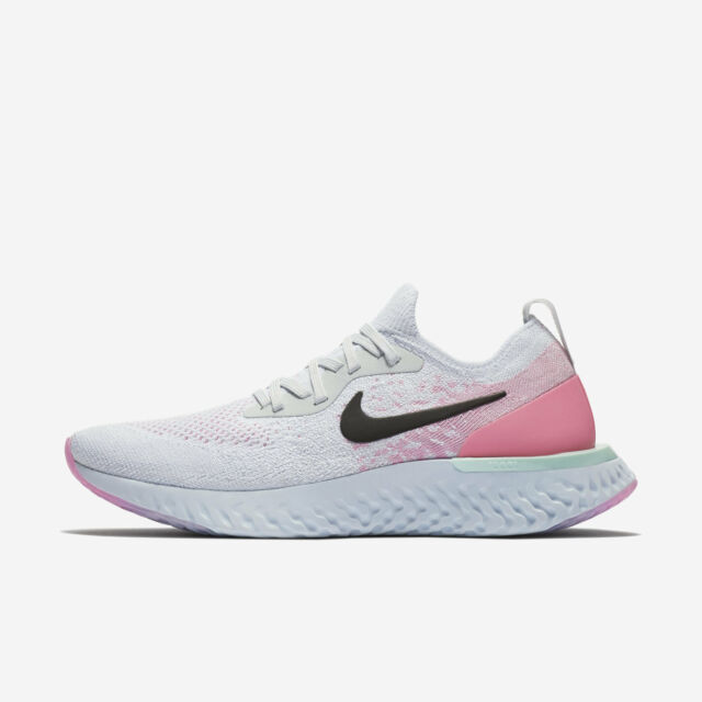 7c57920104cbb WOMENS NIKE EPIC REACT FLYKNIT RUNNING SHOE Sz 11 PURE PLATINUM BLACK  AQ0070-007