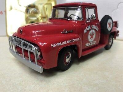 1/24 Danbury Mint Red 1956 Ford F100 Texaco Pickup Truck