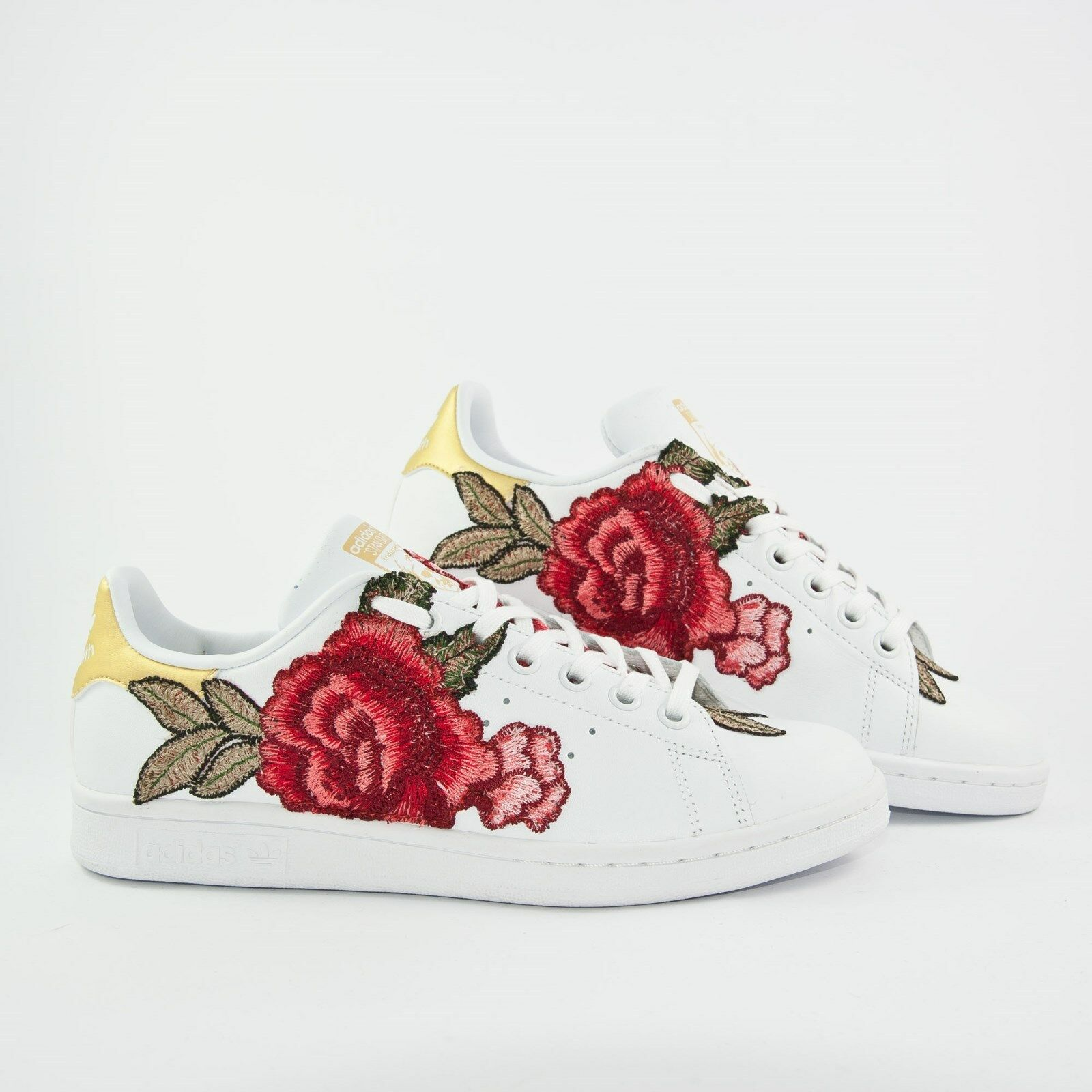scarpe adidas stan smith  con peach fiorata