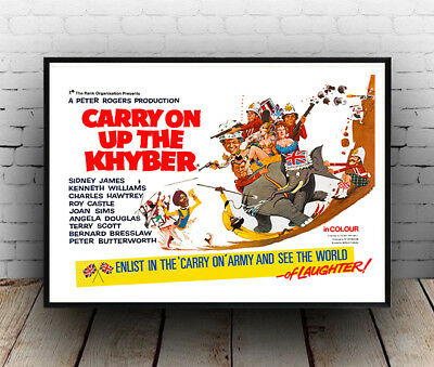Vintage British comedy film Poster reproduction. Carry on Up the Khyber