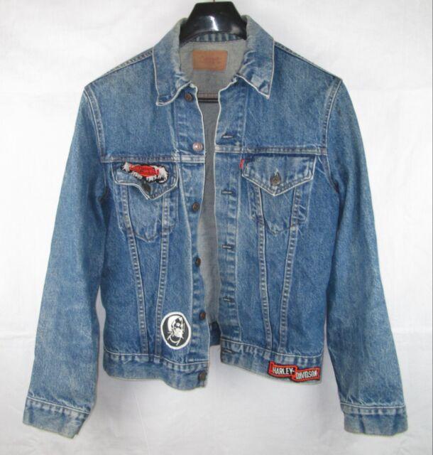 Vintage Levis Denim Jacket Made in USA 70505 Size 40 Harley Davidson Type 3