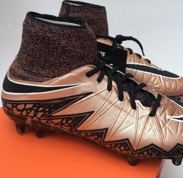 81746dbf2690 Nike Hypervenom Phantom II FG Football BOOTS RARE Black Bronze 747213 903  UK 9.5 for sale online