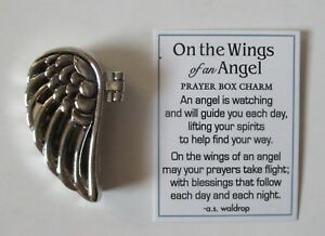c on the wings of an angel keepsake prayer box charm loss loved one