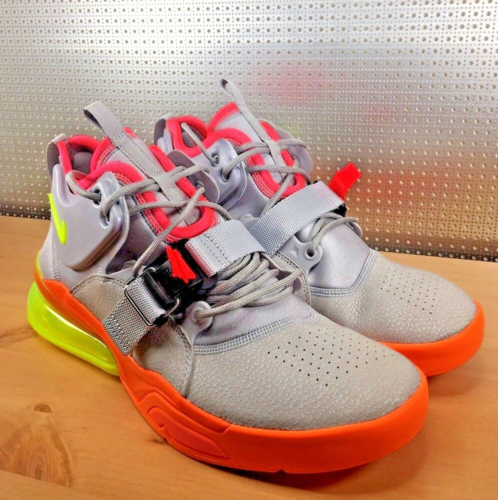 Nike Air Obliger 270 Sherbet Atmosphere Gris Volt Orange AH6772-007 Taille 10.5 NWOB